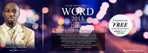 Click now for a free Prophetic Word